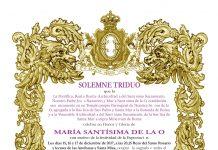 Solemne Triduo en Honor y Gloria de María Santísima de la O