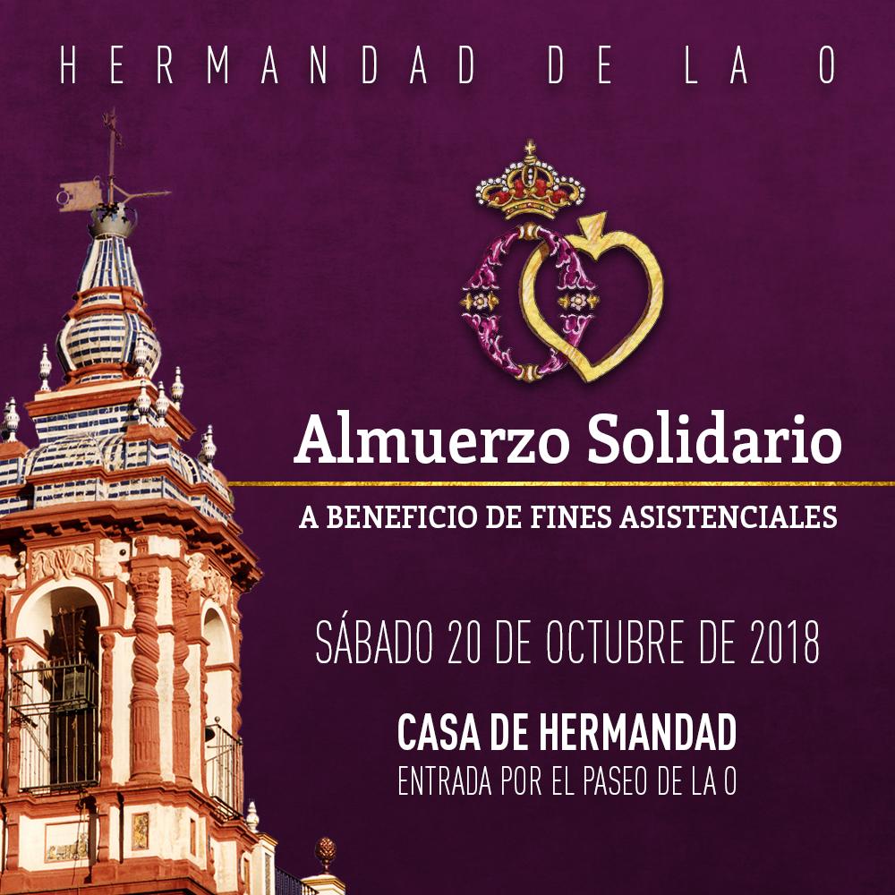 Cartel Almuerzo Solidario Octubre 2018