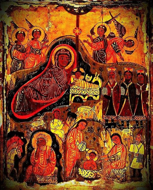 Icono de Navidad Monasterio Santa Catalina del Sinaí S. XIII