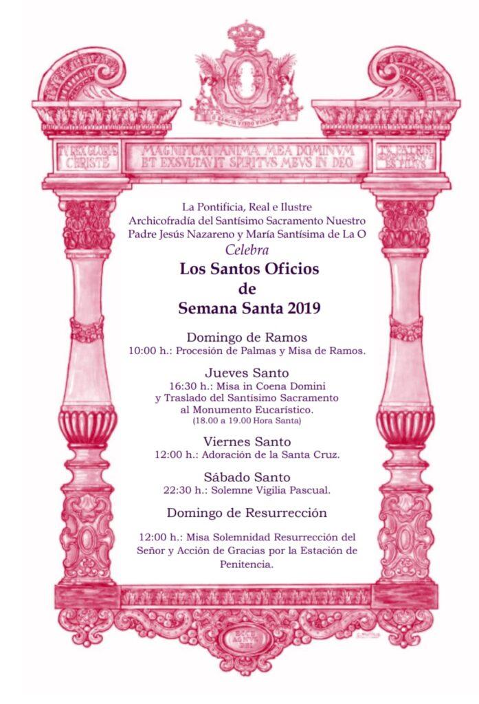 Celebración de los Santos Oficios de Semana Santa 2019