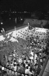 Antiguo patio del Limonero. Primera tómbola año 1985