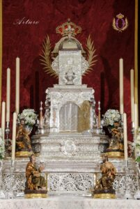 Detalle del Altar del Jueves Santo de la Semana Santa de 2021
