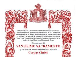 Convocatoria Solemne Triduo a Jesús Sacramentado 2021