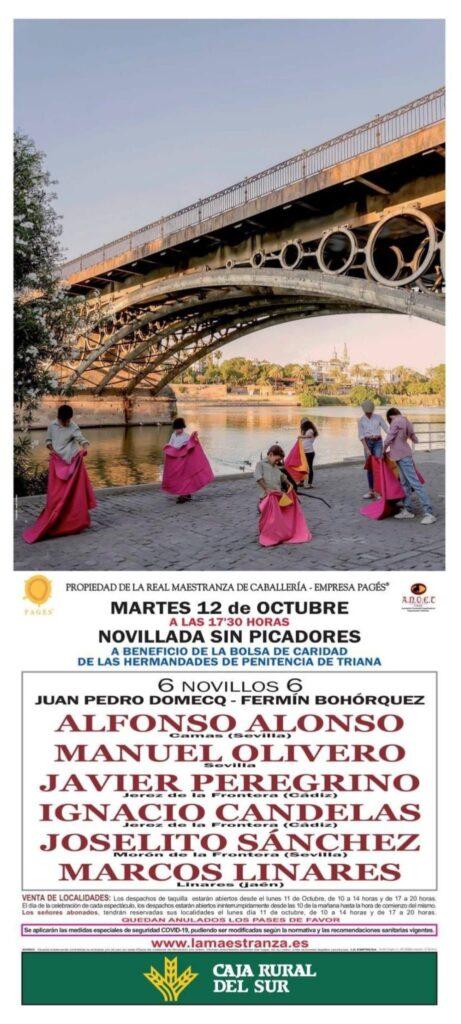 Festival taurino a beneficio de las obras sociales de las hermandades penitenciales de Triana
